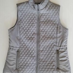 Relativity grey quilted zip vest